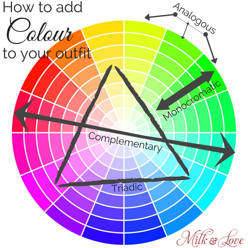 how to add colour to my outfit and understanding the colour wheel in fashion